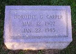 Dorothy G Carper
