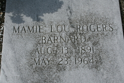 Mamie Lou <i>Rogers</i> Barnard