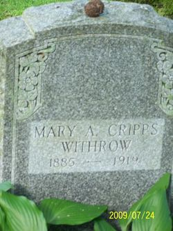 Mary May <i>Cripps</i> Withrow