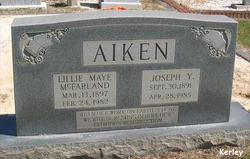 Lillie Maye <i>McFarland</i> Aiken