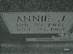 Annie J <i>Puckett</i> Cross