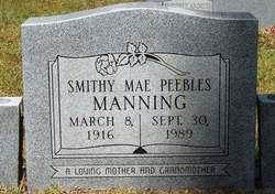 Smithy Mae <i>Peebles</i> Manning