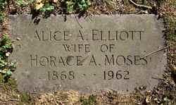 Alice A. <i>Elliot</i> Moses
