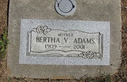 Bertha Varee <i>Finley</i> Adams