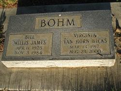 Virginia <i>Van Horn</i> Bohm Hicks