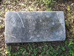 Miss Frances Marian Peyton