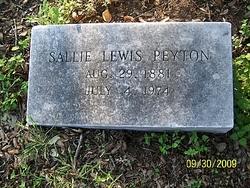 Sallie <i>Lewis</i> Peyton