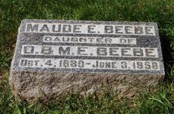Maude E Beebe