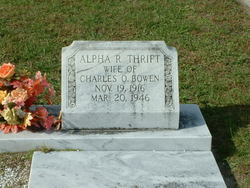 Alpha R. <i>Thrift</i> Bowen