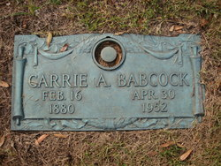 Carrie A Babcock