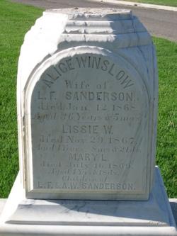 Alice <i>Winslow</i> Sanderson