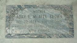 Adah L <i>McAfee</i> Brown
