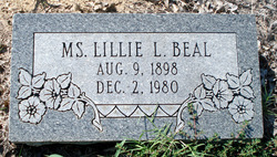Lillie Loraine Toad Beal