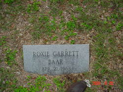 Roxie Eleanor <i>Garrett</i> Baar