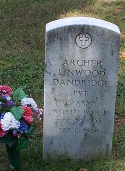 Pvt Archer Linwood Dandridge