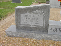 Minnie Belle <i>Blackburn</i> Abernathy