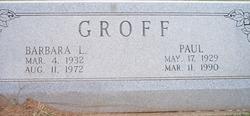 Barbara Lou <i>Thompson</i> Groff