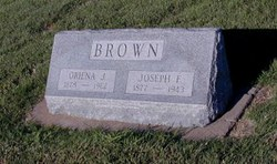 Oriena Jane <i>Miller</i> Brown