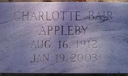Charlotte Mayfield <i>Bair</i> Appleby