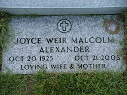 Joyce Weir <i>Malcolm</i> Alexander