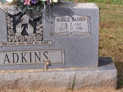 Maggie Elizabeth <i>Barber</i> Adkins