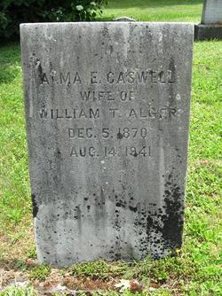 Alma E <i>Caswell</i> Alger