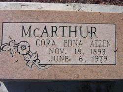 Cora Edna <i>Allen</i> McArthur
