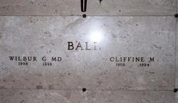 Dr Wilbur G Ball