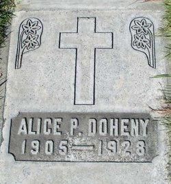 Alice P <i>McAllister</i> Doheny
