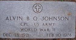 Alvin B Q Johnson