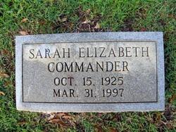 Sarah Elizabeth <i>Strickland</i> Commander