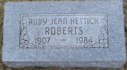 Ruby Jean Jeannie <i>Hettick</i> Roberts