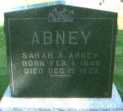 Sarah Ann Sallie <i>Adkins</i> Abney
