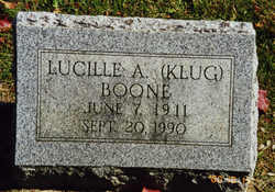 Lucille Almira <i>Klug Boone</i> Brown