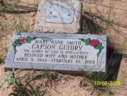 Mary Anne <i>Smith</i> Capson Guidry