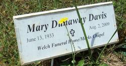 Mary <i>Dunaway</i> Davis