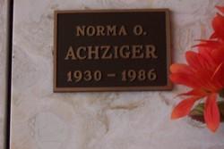 Norma Olive <i>Bone</i> Achziger