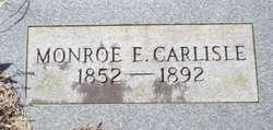 Monroe E Carlisle