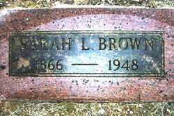 Sarah L. <i>Jones</i> Brown