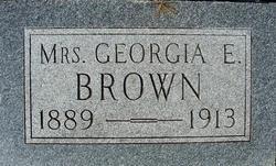 Georgia E <i>White</i> Brown