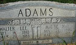 Mattie May <i>Smith</i> Adams