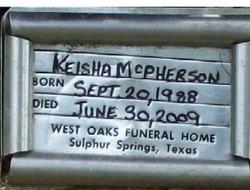 Keisha Nicole McPherson