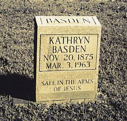 Kathryn Marion Kittie <i>Bynum</i> Basden