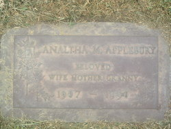 Analtha M <i>Stanley</i> Applebury