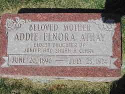Addie Elnora <i>Clark</i> Athay