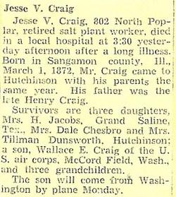 Jesse V. Craig