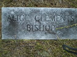 Alice <i>Clements</i> Bishop