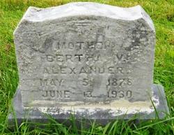 Bertha V Alexander