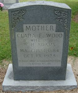 Clara Frances <i>Woods</i> Adams