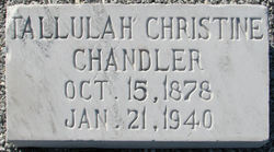 Tallulah Christine <i>Jones</i> Chandler
